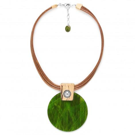 large pendant necklace Raphia