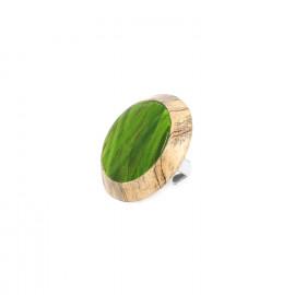 tamarin & raphia ring Raphia - Nature Bijoux