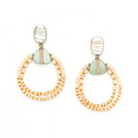 two loop earrings Seychelles - Nature Bijoux