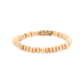 alternate beads stretch bracelet Seychelles - Nature Bijoux