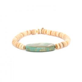 bracelet extensible avec paua Seychelles - Nature Bijoux