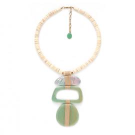 collier pendentif trois éléments Seychelles - Nature Bijoux
