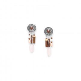 three row small earrings Terre douce - Nature Bijoux