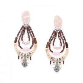 boucles d'oreilles à pampilles trois boucles Terre douce - Nature Bijoux