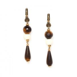 tiger eye drop earrings Varanasi - Nature Bijoux