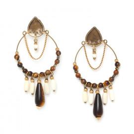 grandes boucles d'oreilles Varanasi - Nature Bijoux