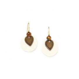 bone disc earrings Varanasi - Nature Bijoux