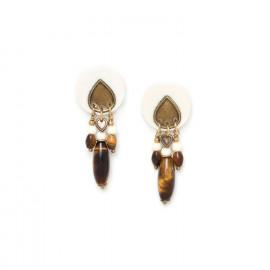 boucles d'oreilles trois pampilles Varanasi - Nature Bijoux