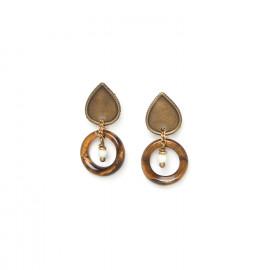 boucles d'oreilles anneau oeil de tigre Varanasi - Nature Bijoux