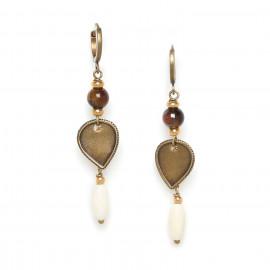 long hoop earrings Varanasi - Nature Bijoux