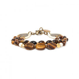 bracelet trois rangs Varanasi - Nature Bijoux