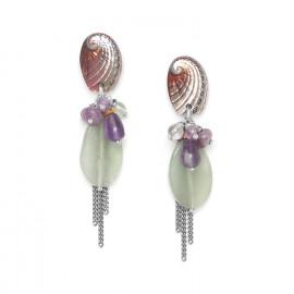 boucles d'oreilles grappe Water lily - Nature Bijoux