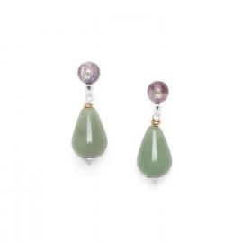 aventurine drop earrings Water lily - Nature Bijoux