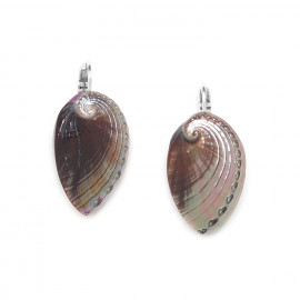 haliotis french hook earrings Water lily - Nature Bijoux