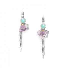boucles d'oreilles grappe avec chaîne Water lily - Nature Bijoux
