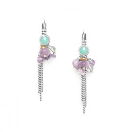 grape earrings with chains Water lily - Nature Bijoux