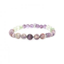 bracelet extensible pierres assorties Water lily - Nature Bijoux