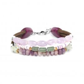bracelet trois rangs Water lily - Nature Bijoux
