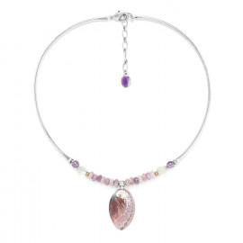 necklace with haliotis pendant Water lily - Nature Bijoux