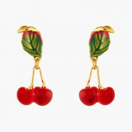 Small cherries post earrings Exquise cerise -