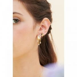 Cherry blossom and branch earrings Hanami -