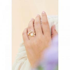 Japanese cherry blossom and tree banches adjustable ring Hanami -