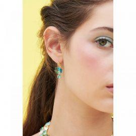 La Diamantine acqua azzura round stones sleeper earrings La diamantine -