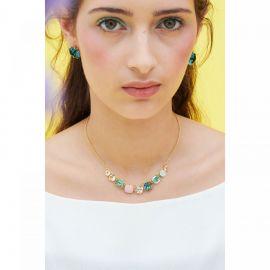 La Diamantine 9 stone necklace Acqua Azzura La diamantine -