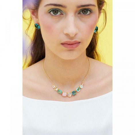 La Diamantine 9 stone necklace Acqua Azzura La diamantine