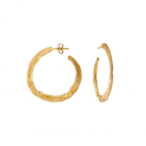 Flat hoops Ester Gold Medium