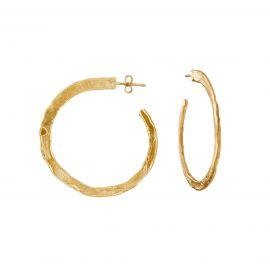 Flat hoops Ester Gold Medium - Joidart