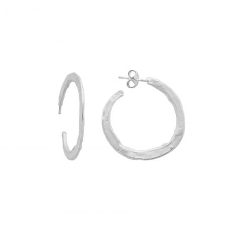 Flat hoops Ester Argent Medium