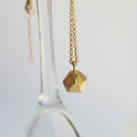 Golden Facet necklace - Joidart