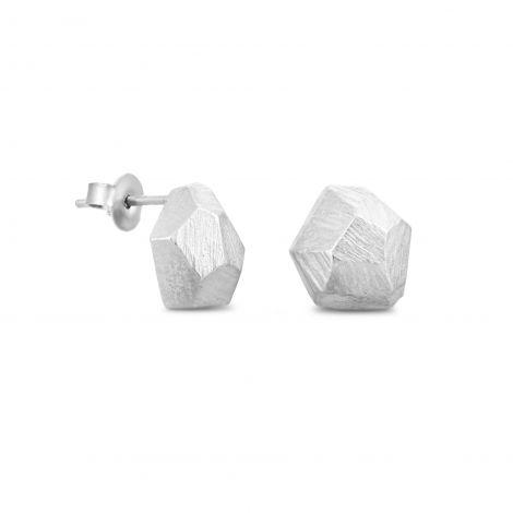 Silver Earrings post Facet