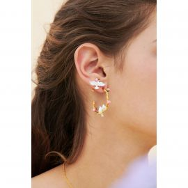 Hoops earrings Les nereides loves animal -