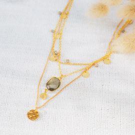 ALMA 3 row necklace - L'atelier des Dames