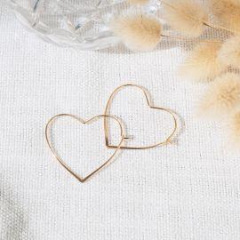 CHARLOTTE large heart hoop earrings - L'atelier des Dames