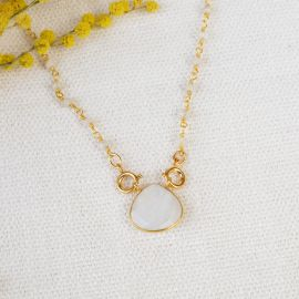 JOE stone and moon drop chain necklace - L'atelier des Dames