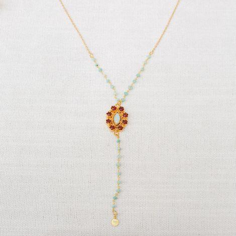 CÉLINE flower rosary long necklace