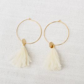 Hoop earrings Sweet cream -