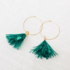 Hoop earrings Sweet emerald -
