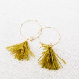 Hoop earrings Sweet mustard -