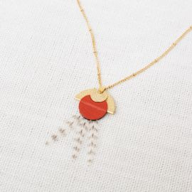 Terracotta NAIADE necklace -