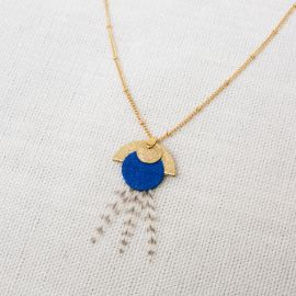 Collier NAIADE bleu PM -