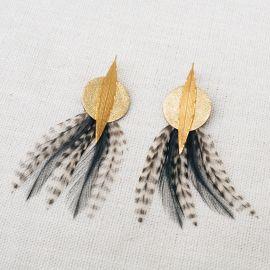 Boucles d'oreilles plumes LEMPICKA -