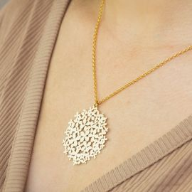 Hortensia short golden necklace - RAS
