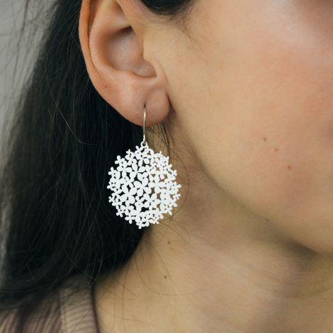 Silver Hortensia Earrings