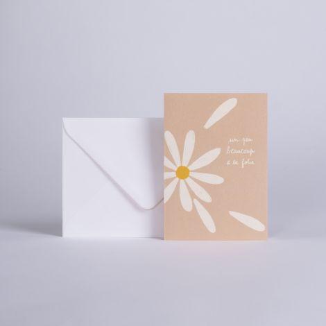 Card petales Un peu, beaucoup