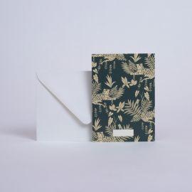 Message card Jungle Emeraude - Season Paper