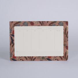 Weekly deskpad Luxuriance Terre - Season Paper
